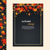 Autumn style flyer vector design template