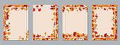 Autumn style business flyer vector templates