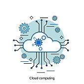 Cloud computing vector concept