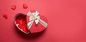 Valentine's Day romantic red box