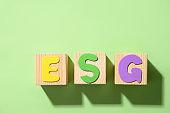 ESG - Environmental. Social. Governance. Principles of responsible investing company verification