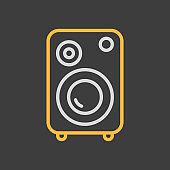 Music column vector flat icon on dark background