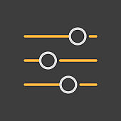 Equalizer vector icon. Music sound wave symbol