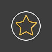 Add to favorites vector icon, star symbol