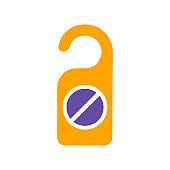 Do not disturb sign vector glyph icon