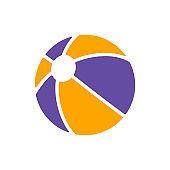 Beach Ball flat vector glyph icon isolated