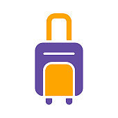 Baggage, luggage vector isolated sign glyph icon