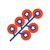 Cherry tomatoes glyph icon. Vegetable symbol
