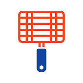 Barbecue, grill steel grid vector glyph icon