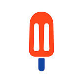 Popsicle vector glyph icon. Fast food sign
