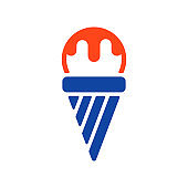Ice Cream vector glyph icon. Fast food sign