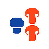 Mushroom flat vector glyph icon. Vegetable symbol