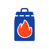 Grill charcoal glyph icon. Barbecue and bbq grill