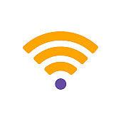 Wi Fi wireless network flat vector glyph icon