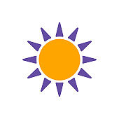 Sun vector isolated glyph icon. Weather sign