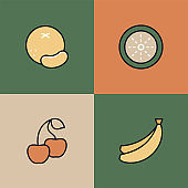 Fruits Multi Color Icons