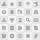 Compliance Thin Line Icons