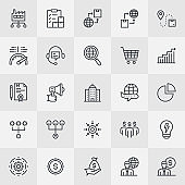Procurement Management Thin Line Icons