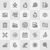 Business Essentials Thin Line Icons