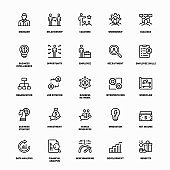 Human Resources Line Icons
