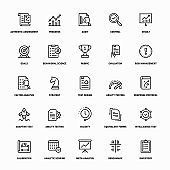Outline Icon Set of Assessment