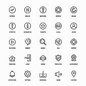 Outline Icon Set of Basic Interface