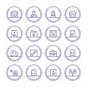 Medical and Healthcare Thin Line Icons