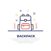 Backpack Outline Icon