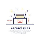 Archive Files Outline Icon