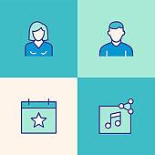 Social Media Multi Color Icons