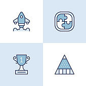 Start Up Business Multi Color Icons
