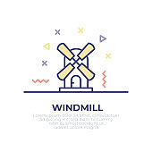 Windmill Outline Icon