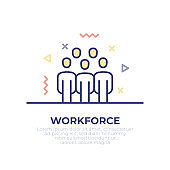 Workforce Outline Icon
