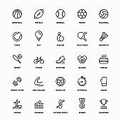 Outline Icon Set of Sports