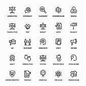 Ethics Line Icons
