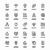 Outline Icon Set of Business Plan