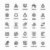Outline Icon Set of Career Management