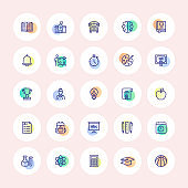 Back to School Thin Line Icons