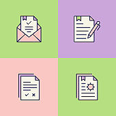 Paperwork Multi Color Icons