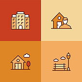 Real Estate Agency Multi Color Icons