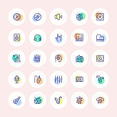Music and Instruments Thin Line Icons