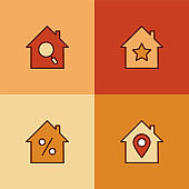 Real Estate Multi Color Icons