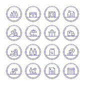 Employee Benefits Thin Line Icons