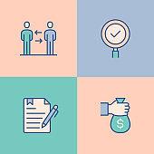 Recruitment Multi Color Icons