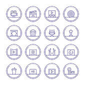 Movie Industry Line Icons