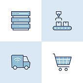 Smart Production Multi Color Icons