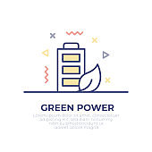 Green Energy Outline Icon