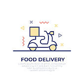 Food Delivery Outline Icon