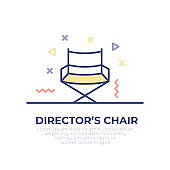Director's Chair Outline Icon