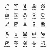 Outline Icon Set of Medical